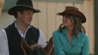 "Castle 7x07 ""Once Upon a Time in the West"" (HQ/cc) Castle  Beckett Get a Wagon Ride"