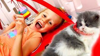 Nastya memiliki dua anak kucing, Cerita tentang caramerawat kucing