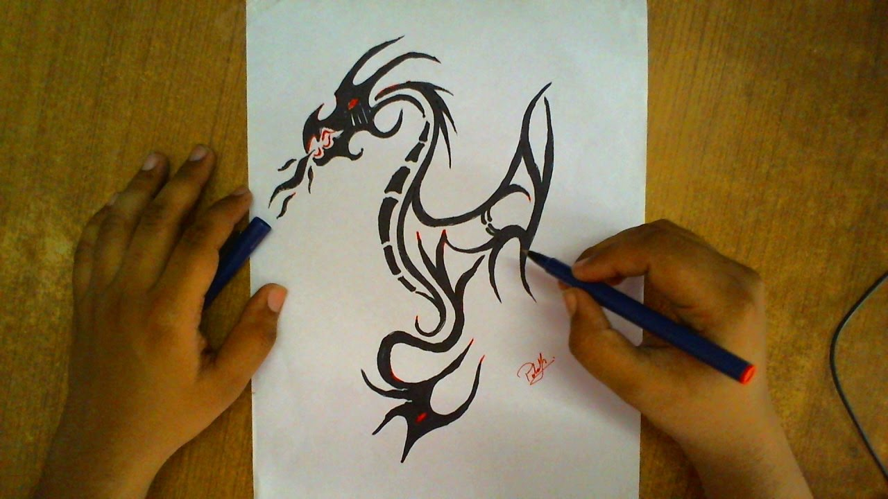 How To Draw A Dragon Step By Step  Draw A Dragon For Kids  How To Draw A  Dragon Easy #7