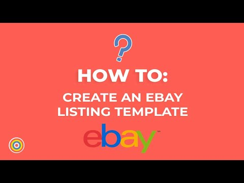 How To Create A Listing Template On EBay - E-commerce Tutorials