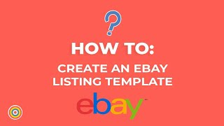 كيفية إنشاء قالب قائمة على موقع ئي باي - التجارة الإلكترونية الدروس
