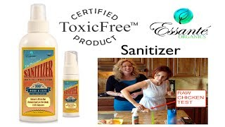 100% Toxic-Free Disinfectant, Sanitizer (RAW CHICKEN/HUMAN EYES) Test!