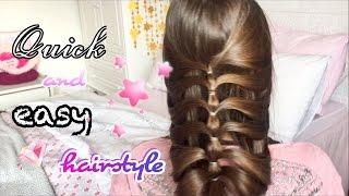 2 МИНУТНА ПРИЧЕСКА/Quick and easy hairstyle/Ерика Думбова/Erika Doumbova