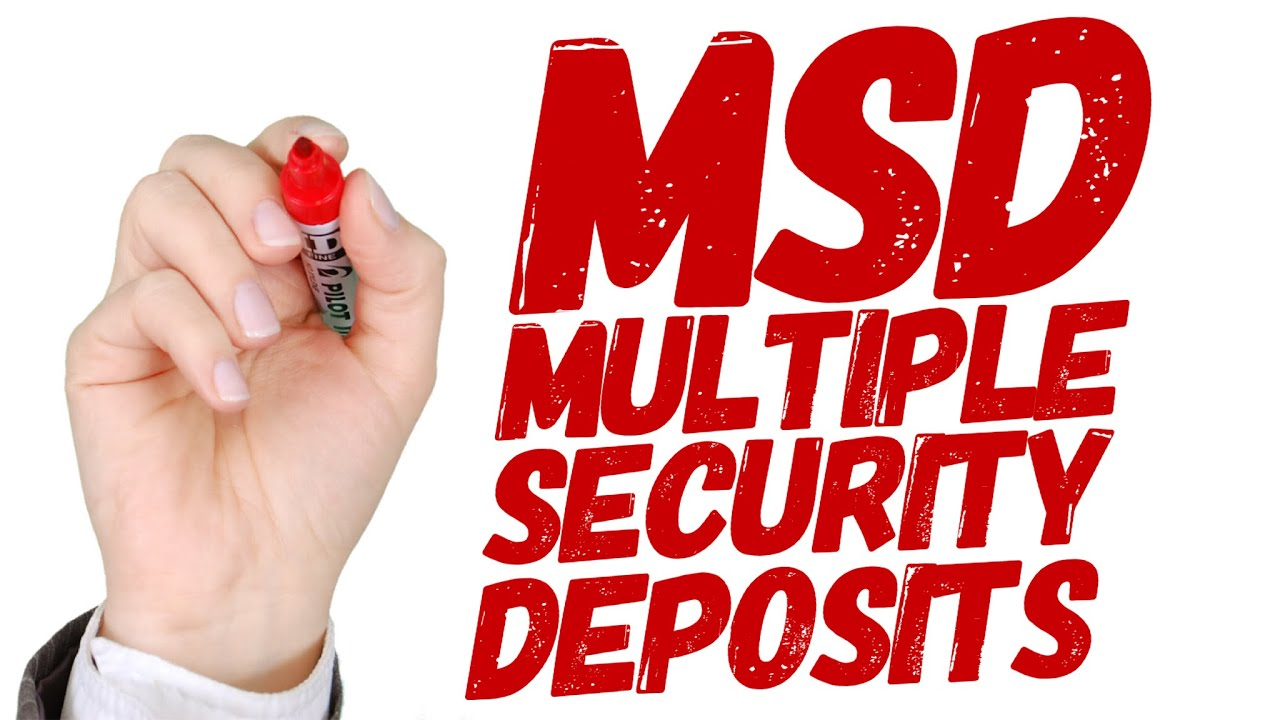 Why you should put Multiple Security Deposits on a lease  (MSD for Lexus,  Mercedes, Toyota, etc )