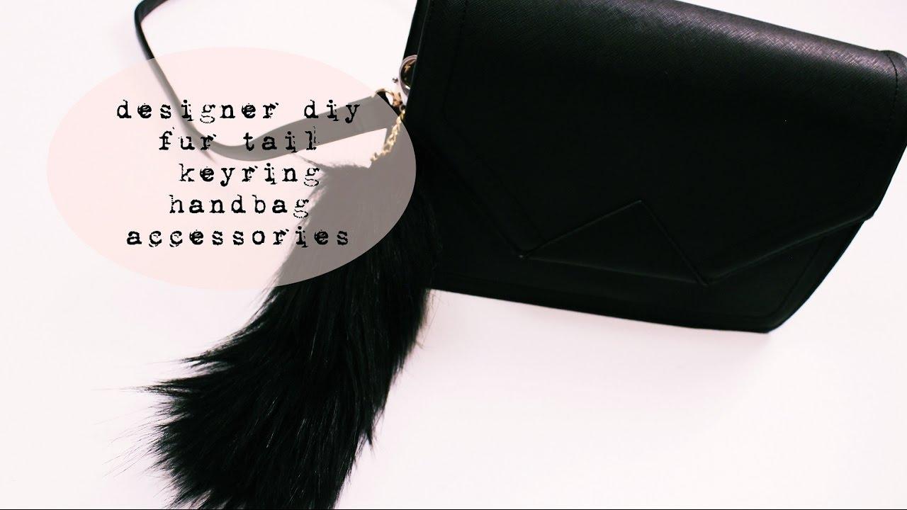 designer diy fur tail keyring handbag accessories / efutro.pl / [anna koper]