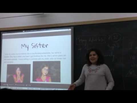 Ana's oral presentation. My family. 1 ESO