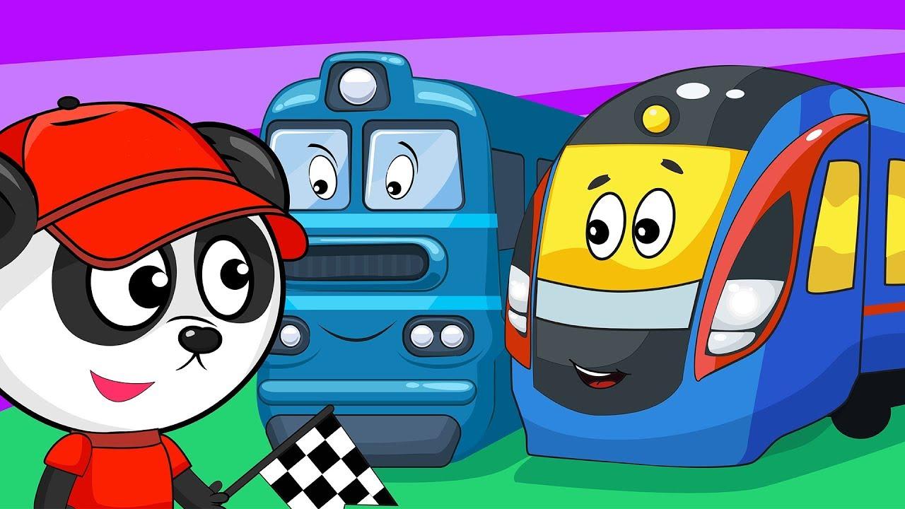 Мастерская Биби - Изучаем Поезда и Железнодорожный Транспорт Для Детей - Обучающее Видео
