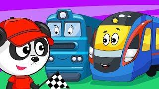 Майстерня Бібі - Вивчаємо Поїзда і Залізничний Транспорт Для Дітей - Навчальне Відео