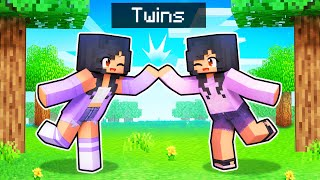 Playing Minecraft With My TWIN SISTER!