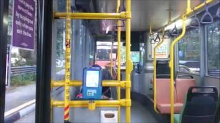 hd sbs transit bus joyride in volvo b10ble cng volgren on service 157