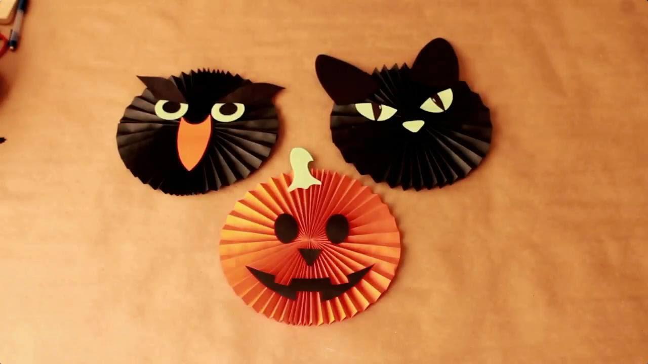 Diy como hacer rosetas de papel para halloween youtube - Decoracion halloween para casa ...