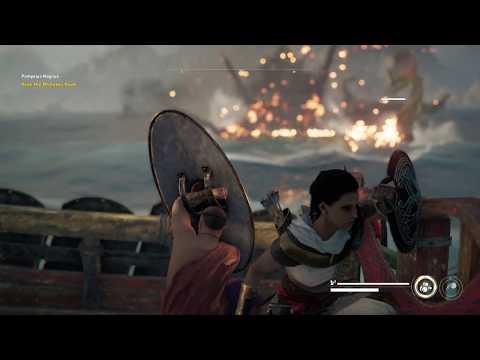 Assassin's Creed: Origins - Pompeius Magnus: Sail To Aegean Coast & Sink Ptolomy Fleet Tutorial