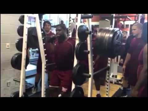 Troy Offensive Lineman Terrence Jones Squats 810 Pounds