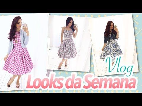 Vlog Looks da Semana (Vestidos Midi, Look Vintage, Look Retro, Look Melissa)