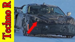 WOW !! The future mid engine Chevrolet Corvette, Spied undergoing winter testing in the Arctic