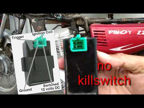 How to wire 4 pins cdi into 5 pins cdi on motorcycle ( Conversion )Tagalog .