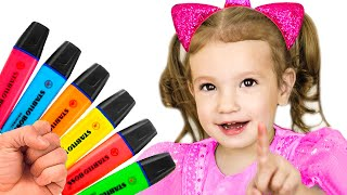Pretends to play with his Magic Pen - Preschool toddler learn color