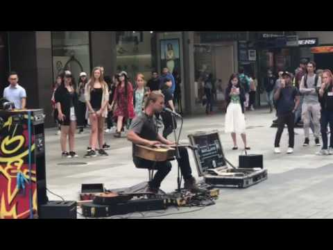 Amazing street performance in Adelaide Rundle mall.