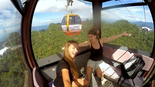 Getting the Sky Cab and Sky Bridge in Langkawi, MALAYSIA