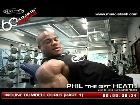 Incline Dumbell Curls By Phil Heath