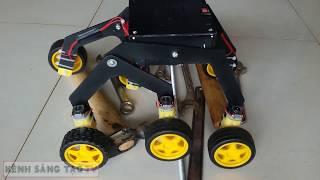 How to Make a Mars Rover / Rocker bogie Robot at Home