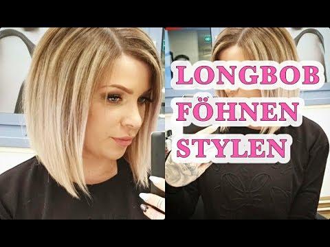 Wie Föhne Und Style Ich Meinen Longbob Jenny König Youtube
