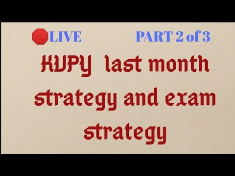 🛑 KVPY last month Preparation | Exam Strategy | Part 2 of 3