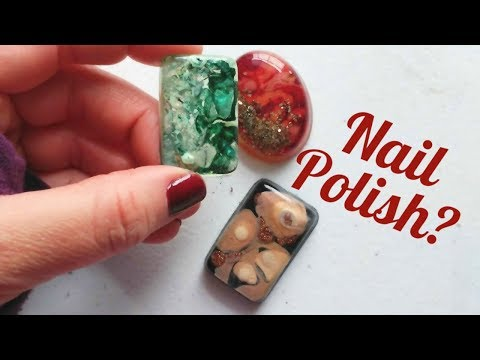 Making Resin Pendant using nail polishes for color