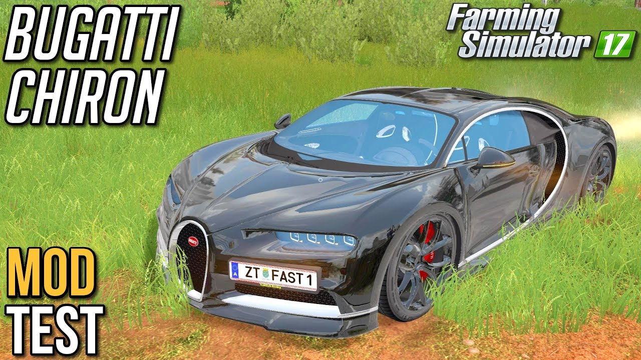 Bugatti Chiron [MOD TEST] - Farming Simulator 17 | (100k subów special)