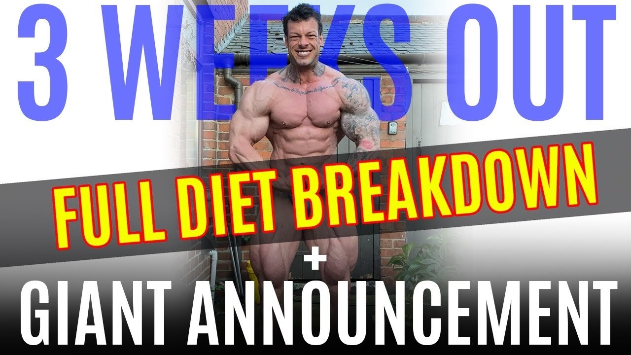 3 WEEKS OUT REST DAY//FULL DAY OF EATING//GIANT ANNOUNCEMENT//MACROS IN THE DESCRIPTION