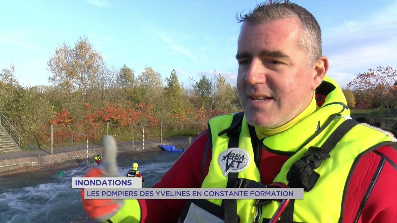 Inondations : les pompiers des Yvelines en constante formation