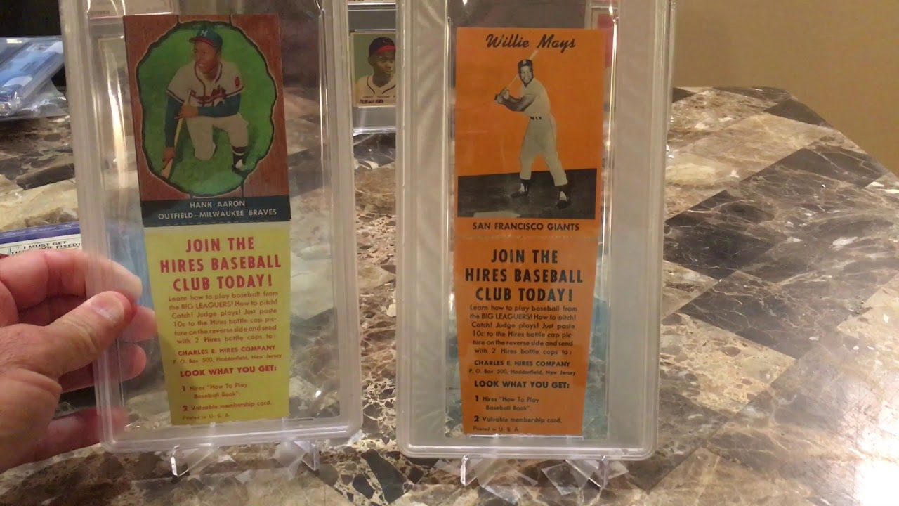 Vintage 1958 Hires Root Beer Willie Mays Test Issue Baseball Card Mailday