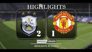 Man UTD vs Huddersfield Town  1-2   All Goals and Highlights 21-10-2017 HD