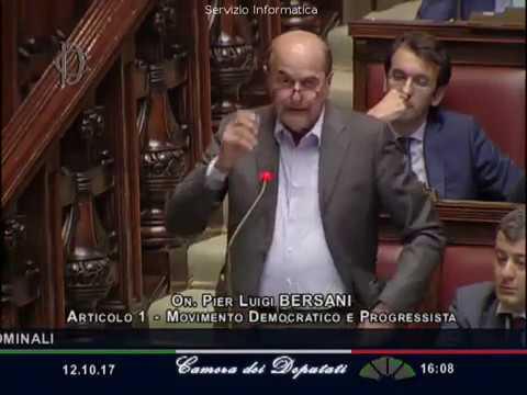 Pieluigi Bersani intervento Aula Rosatellum bis