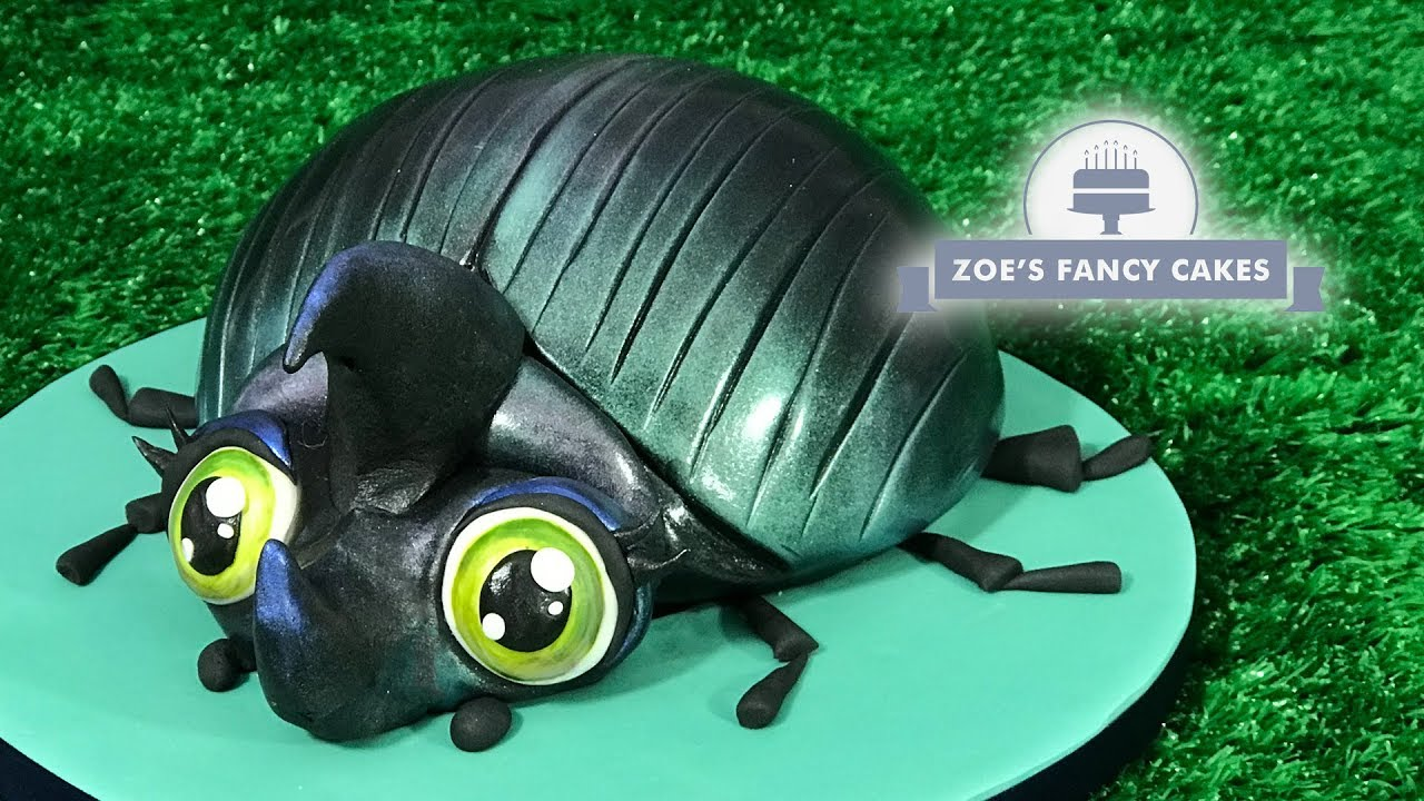 Beetle Cake Tutorial Bug Birthday Cakes Youtube