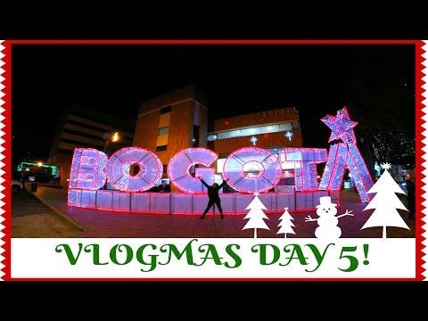 BOGOTA LIT UP WITH CHRISTMAS LIGHTS!   Vlogmas Day 5 2016