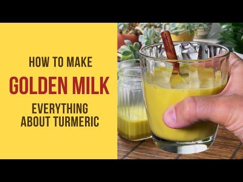 How to make GOLDEN MILK aka TURMERIC MILK: properties and benefits