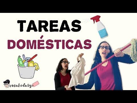 Tareas domésticas ⎮Vocabulario⎮Aprende Español
