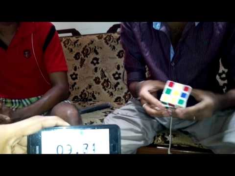 Solving Rubik's cube in 52 seconds by Tharindu.3gp