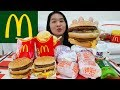 watch he video of MCDONALD'S BIG MAC + BBQ Beef and Chicken Burgers w Egg, McFlurry, Apple Pie | Mukbang Eating Show