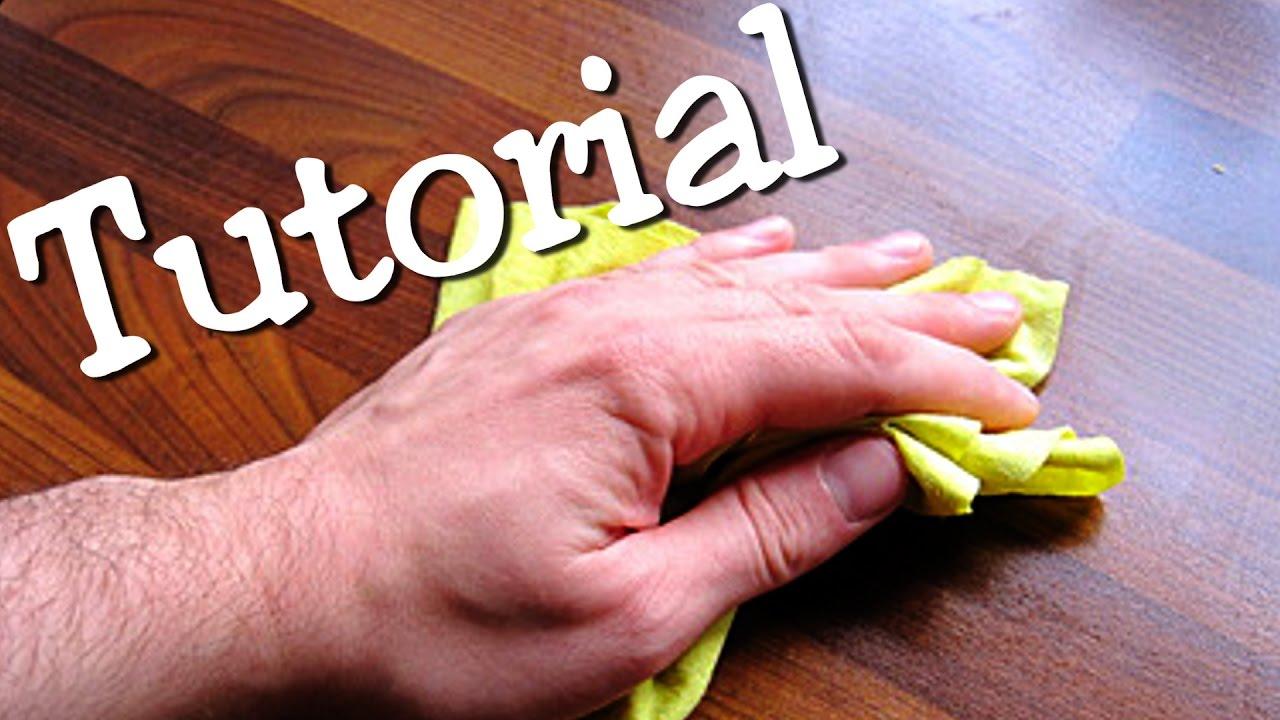 Tutorial: Den Tisch wischen / how to clean the table - YouTube