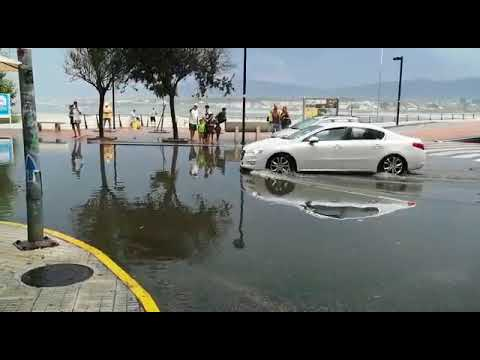 Una tormenta provoca inundaciones en Foz