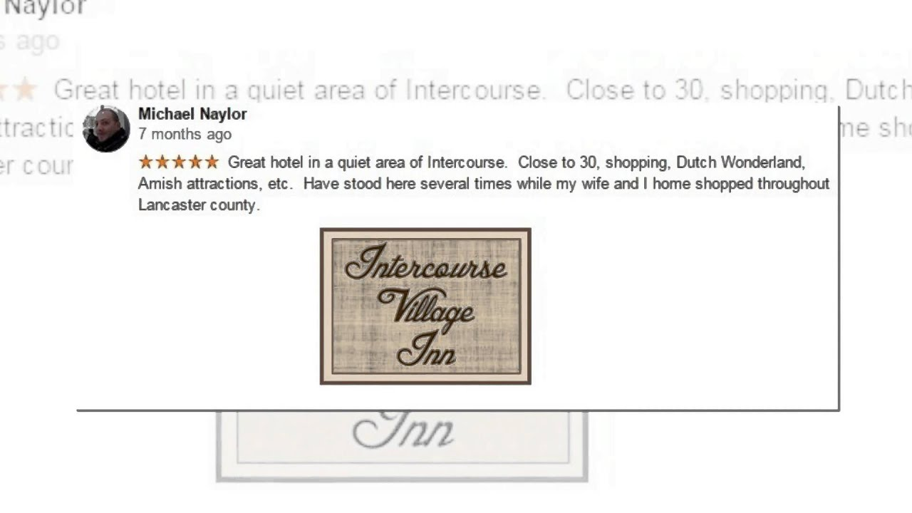 Intercourse Village Inn - REVIEWS - Intercourse Pennsylvania Hotel ...