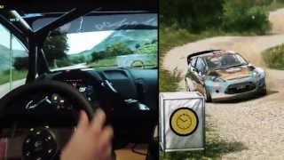 WRC 3 - Logitech G27 gameplay onboard Rally, Italy, Ford Fiesta RS, Instant Replay mod. 1080p