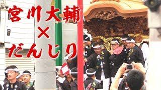 平成29年9月24日の高石だんじり祭 試験曳きの高石北村のだんじりにて、 ...