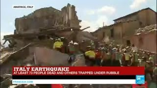 Italy earthquake: death toll rises to 73, huge rescue operation underway