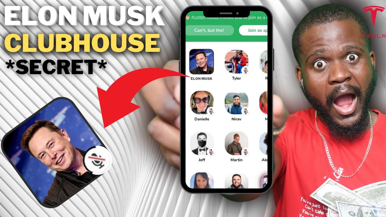Photo of Elon Musk on ClubHouse TONIGHT [LIVE}