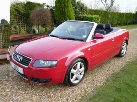 2005 audi a4 2 5 tdi convertible for sale sdsc specialist cars youtube. Black Bedroom Furniture Sets. Home Design Ideas