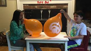 BLOW UP BALLOONS UNTIL THEY POP CHALLENGE! We blow Halloween Balloons until they POP!!
