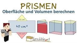 PRISMEN Eigenschaften, Oberfläche und Volumen berechnen